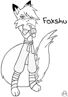 Foxshu (uncolored) by Midniteoil-Burning
