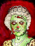 queen of the zombies by idrawzombies