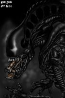 Alien Warrior by GRIDALIEN