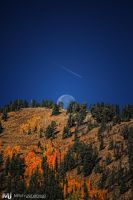 Autumn Moon Fly Over by mjohanson