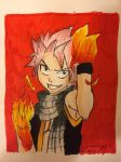 Inktober Day 2- Natsu Dragneel - Music Cover by Flamedragon44