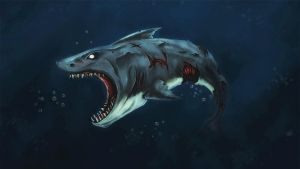 Zombie Shark by Silver-Fate