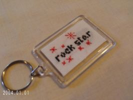 Rock star Keychain side 2 by agorby00