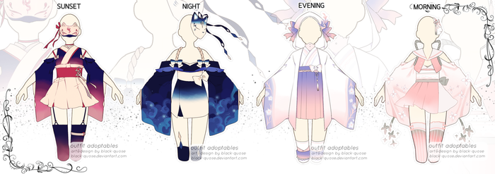 [CLOSED] Times of Day Outfit Adopts Auction by Black-Quose