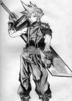 Cloud Strife in Dissidia by DragonWorrior