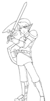 Link Lineart by Aeridis