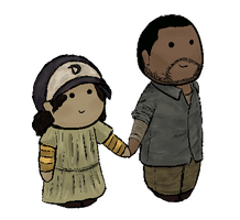 The Walking Dead - Lee and Clementine by Mini811