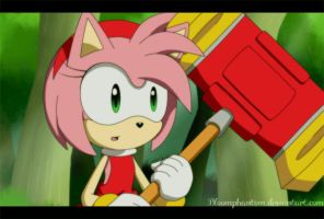 Gif - Amy Rose by BloomPhantom