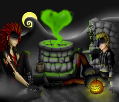 Halloweentown Demyx and Axel by Oriash