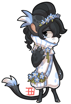 #375 Floral Bagbean - Forget me not CLOSED by griffsnuff