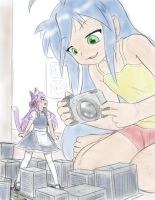 Konata is making a video by AlloyRabbit