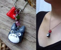 Totoro charm necklace by yael360