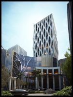 Cellular Office Building by Neellss