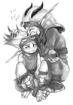 Hair snuffles - Jak and Daxter by neofox