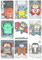 Defenders Sketch Cards Pt1 by crpechonick