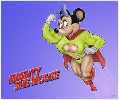 Mighty She-Mouse by yatz