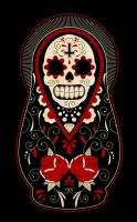Day of the Dead Russian Dolls by paulorocker