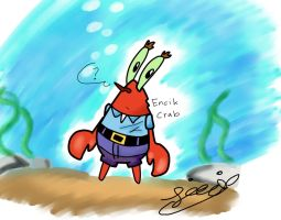 Spongebob Squarepants ::Encik Crab by Sitinuramjah