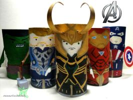 The Avengers Tissue roll by sarcasticlullaby