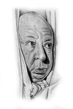 Alfred Hitchcock by asussman