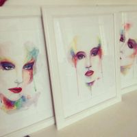 Watercolour set of 3 by al-turnertive