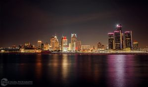 Detroit Lights the Night by JessicaDobbs