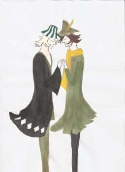 Urahara and Snufkin by Szerzetes