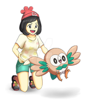 Heroine and Rowlet by ipokegear