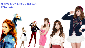 SNSD JESSICA PNG PACK by Acoojoy13