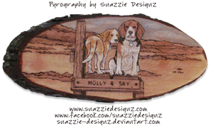 Beagles Pyrograph Woodburning by snazzie-designz