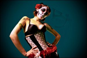 Sugar Skull Pin Up 2 by LaurenWiles