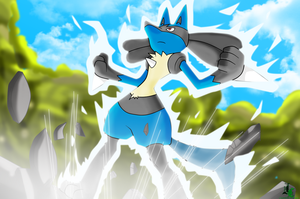 Lucario Colored by JamalC157