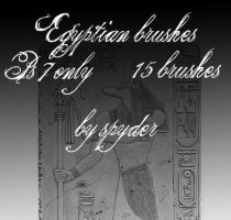 EGYPTIAN stones and glyphs by SpYderDelusion