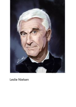 Leslie Nielsen  by zhoumi250