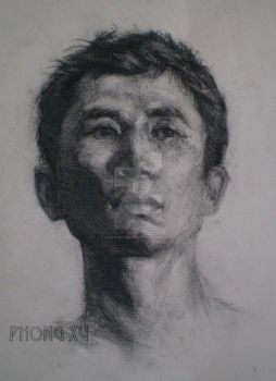Charcoal - Poitrait Figure by caophongart