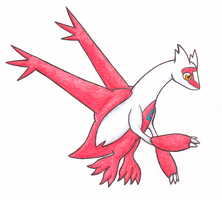Kame's Dragon Collab: Latias by Meta-Akira