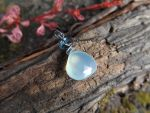 Pale Aqua Chalcedony Pendant, London Blue Topaz by QuintessentialArts