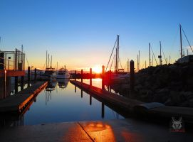 Sunset On Boat Ramp by wolfwings1