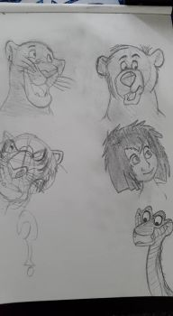 Jungle Books doodles by TossarN