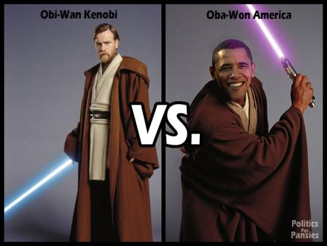 Obi-Wan VS. Oba-Won by PoliticsForPansies