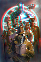 Watchmen in 3D Anaglyph by xmancyclops