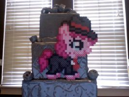 Silly Filly Halloween Ponies: Mafia Pinkie Pie by Perler-Pony