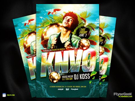 Summer Dj Flyer Template PSD by FlyerGeek