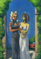 Ahsoka and Barriss - Newlyweds by Raikoh-illust
