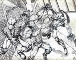 Wolverine vs. Sabertooth and Ripclaw by jey2dworld