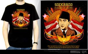 soekarno_t-shirt application by widjana