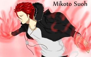 Mikoto Suoh by HieiSQueen