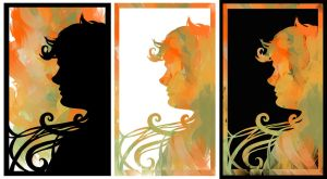 Girl Silhouettes by Olooriel