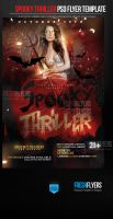 Spooky Thriller PSD Flyer Template by ImperialFlyers
