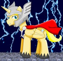 Thor pony full armor by cartoonfan88